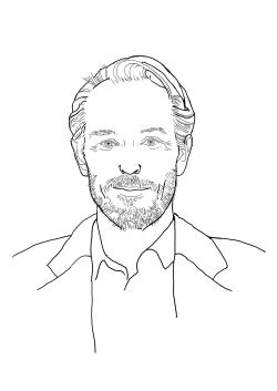 Ein gezeichnetes Porträt von Thomas Otten.