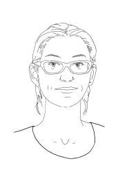 Gezeichnetes Porträt von Tanja Potthoff