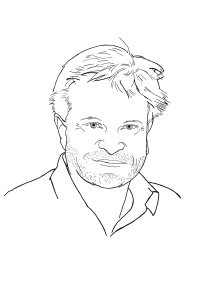 Skizzenhaftes Porträt von Sebastian Ristow
