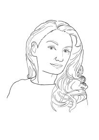 Christiane Twiehaus skizzenhaft porträtiert
