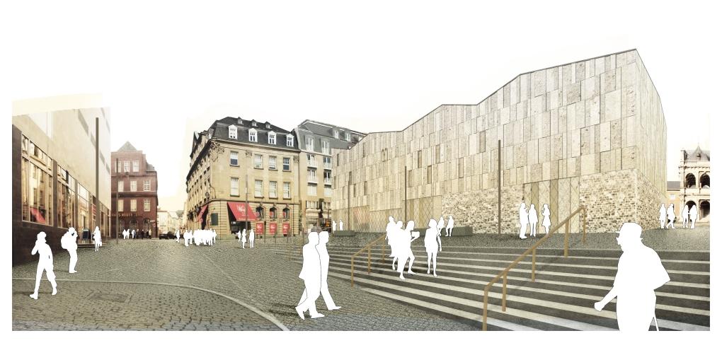 Entwurfsansicht des Museumsbaus