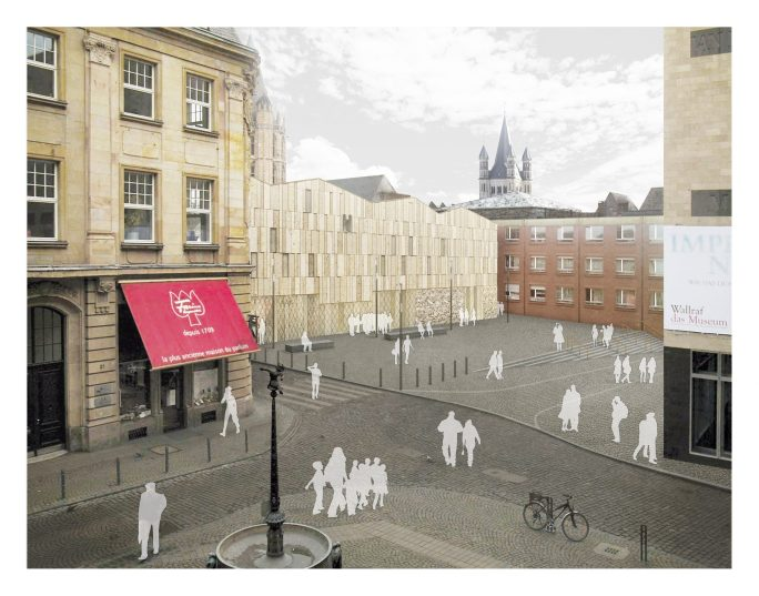 Entwurfsansicht der Museumsfassade