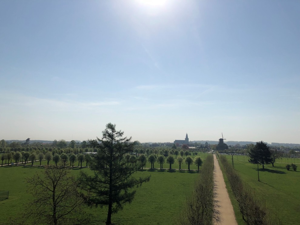 Von der Plattform des nördlichen Torbaus aus hat man einen Überblick über den gesamten Park.