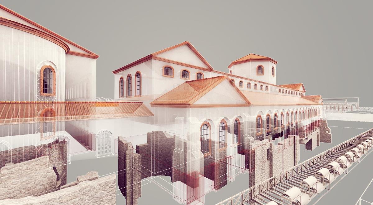 Das Praetorium in Köln war Sitz der römischen Statthalter. Die neue Rekonstruktion von Narmer Architecture aus Budapest verdeutlicht, welche Befunde heute noch erhalten sind und welche Dimensionen das Gebäude im 4. Jahrhundert einnahm.