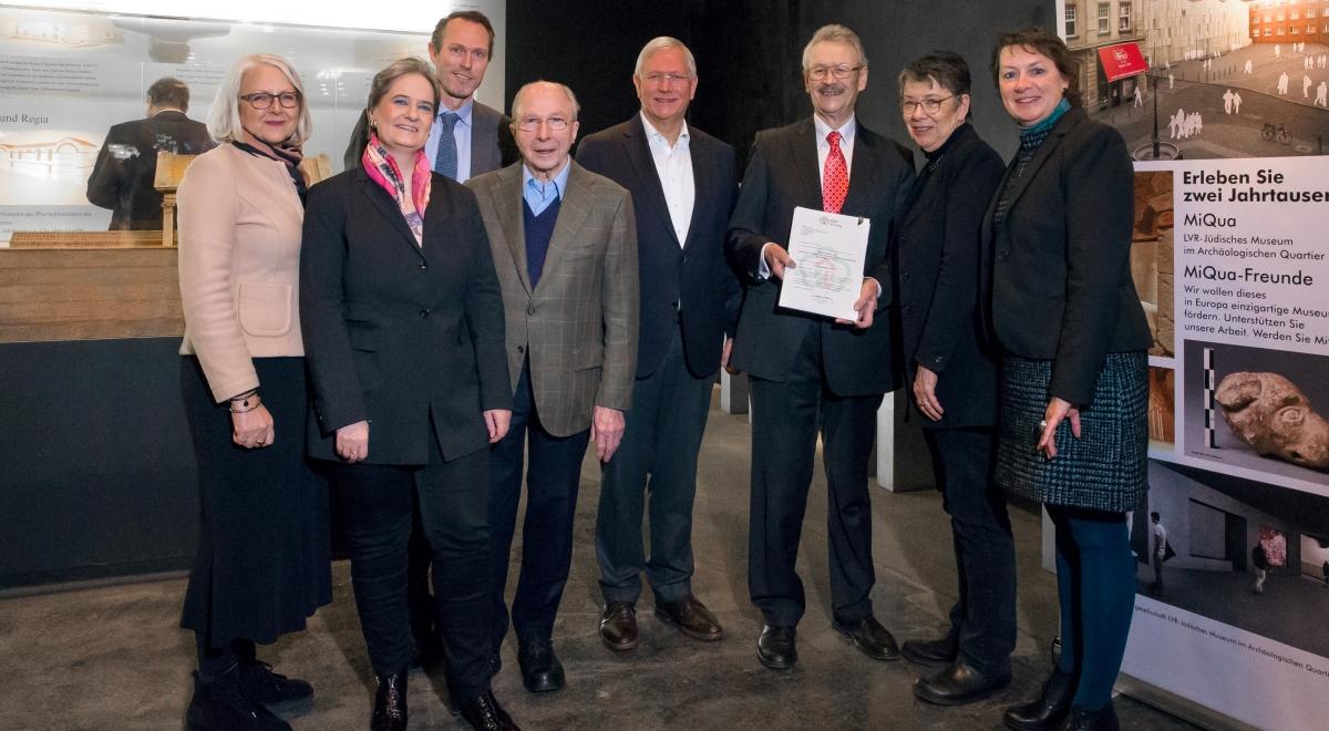 Die Überreichung des Förderbescheids fand am 24. Januar 2019 im Praetorium in Köln statt. Der Befund wird später im MiQua zu sehen sein.