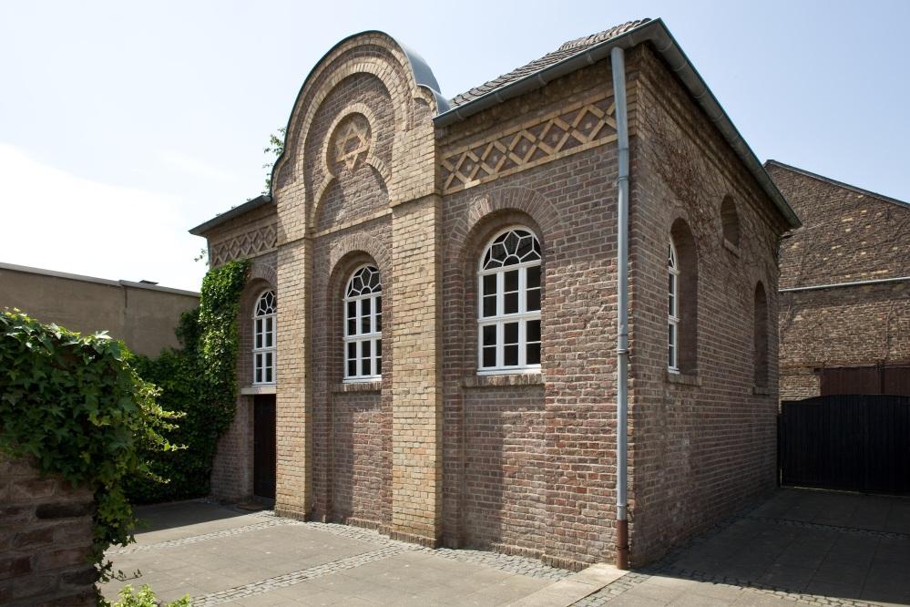 Außenansicht der Synagoge in Stommeln