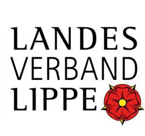 Logo des Landesverband Lippe. Schwarze Schrift auf weißem Untergrund.