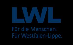 Logo des LWL. Dunkelblaue Schrift auf weißem Untergrund.