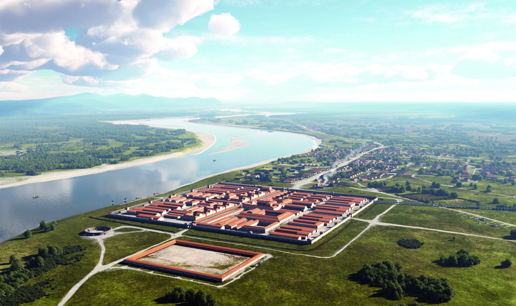 Grafische Rekonstruktion: Bonn zur Römerzeit